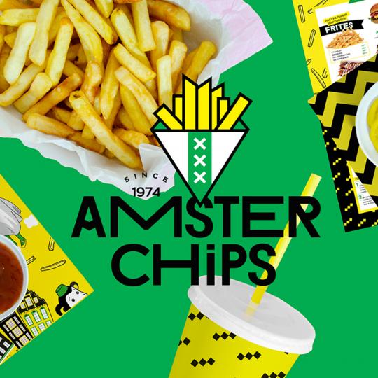 Визуализация бренда «Amster Chips»