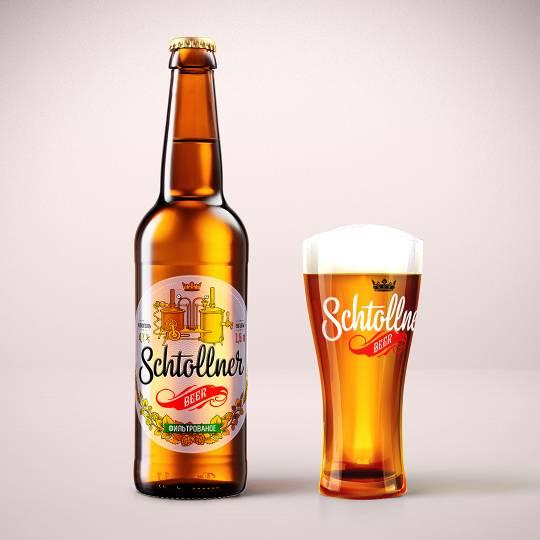 Логотип для пива «Schtollner»
